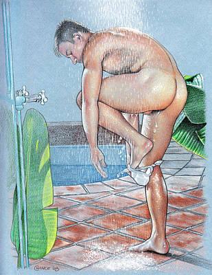 Shower Art Print by Chance Manart