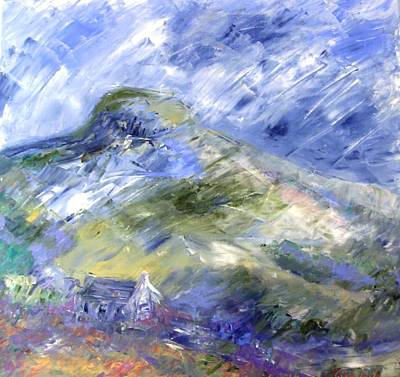 Shower Clouds Over Eagle Hill  Art Print by Trudi Doyle