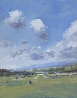 Painting - Shower Clouds Over The Yar Valley by Alan Daysh