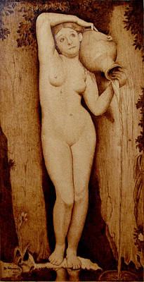 Pyrography Pyrography - Shower Maiden by Jo Schwartz