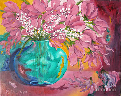 Painting - Shower Of Pink by Lisa Boyd