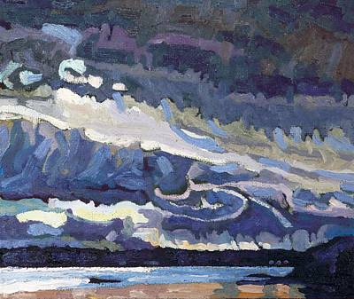 Realism Painting - Showers Behind The Cold Front by Phil Chadwick