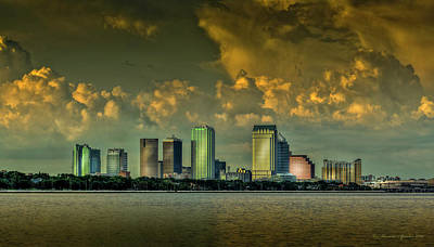 Tampa Skyline Photograph - Showers Tonight by Marvin Spates
