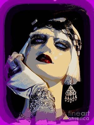 Digital Art - Showgirl Sally by Ed Weidman