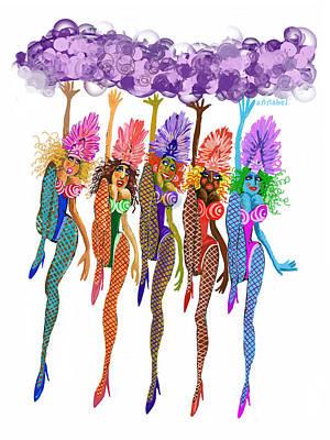 Showgirls Art Print by Annabel Lee