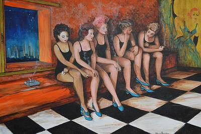 Painting - Showgirls  by Jorge Parellada