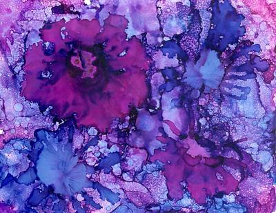 Alcohol Ink Painting - Showing Off by Christine Crawford