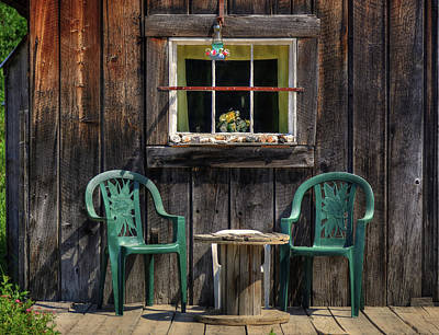 Photograph - Showshoe Gulch Porch  by Richard J Cassato