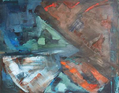 Painting - Shraps And Shards Abstraction by Christel Roelandt