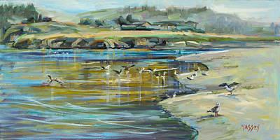 Painting - Shorebird Sanctuary, Plein Air by Marie Massey