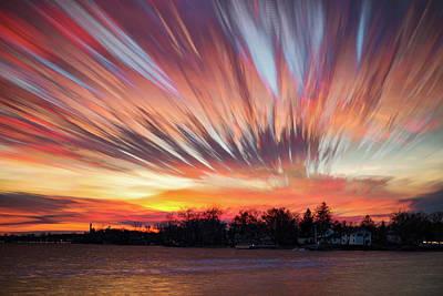 Shredded Sunset Art Print