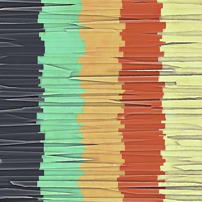 Shreds Of Color Art Print