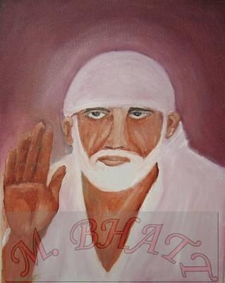 Shree Saibaba Art Print by M bhatt