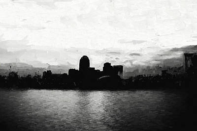 Shreveport Skyline Print by Scott Pellegrin
