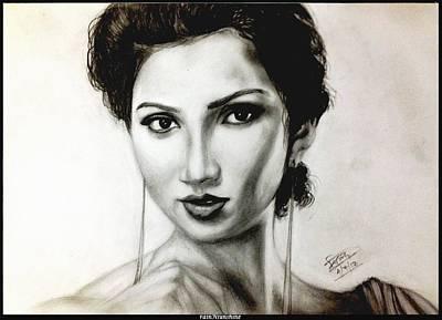 Painting - Shreya Ghoshal by Trinath Sen