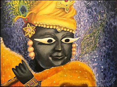 Shri Krishna Painting - Shri Radharaman by Bhrugen Bhaleeya
