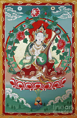Painting - Shri Saraswati  by Sergey Noskov