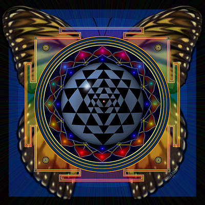 Digital Art - Shri Yantra 1 by Vincent Autenrieb