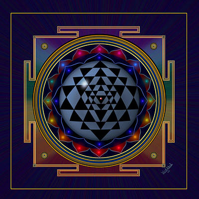 Digital Art - Shri Yantra by Vincent Autenrieb