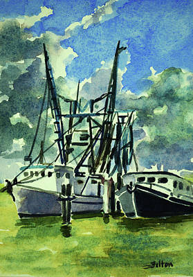 Painting - Boats On The Halifax 7-6-17 by Julianne Felton