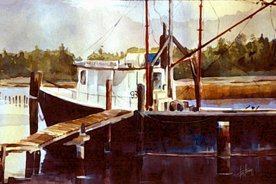 Painting - Shrimp Boat At Eden by Tim Thomas
