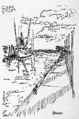 Shrimp Boat From The Harbor Art Print by Robert Yaeger