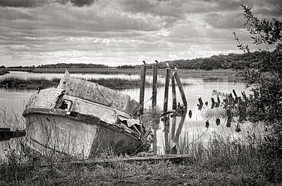Photograph - Shrimp Boat Graveyard by Scott Hansen