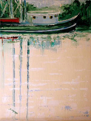 Painting - Shrimp Boat In Bon Secour by Suzanne McKee
