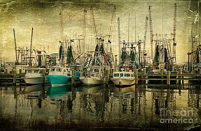 Shrimp Boat Lineup Art Print