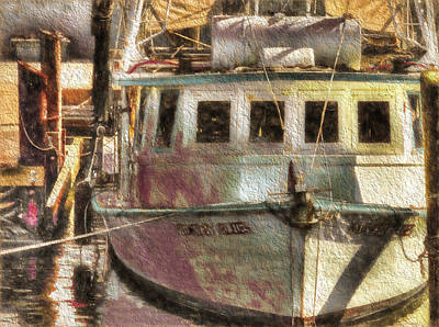 Photograph - Shrimp Boat Midnight Blues by Cathy Jourdan