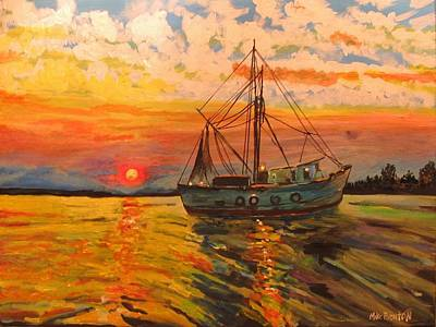 Painting - Shrimp Boat by Mike Benton