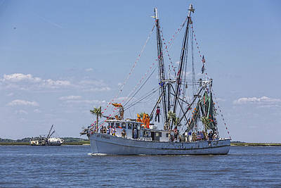 Photograph - Shrimp Boat Parade Of The Shrimp Festival by Paula Porterfield-Izzo