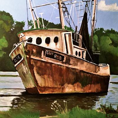 Painting - Shrimp Boat  by Rob Peters