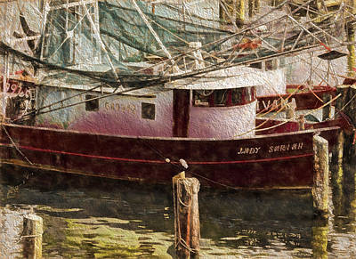 Photograph - Shrimp Boat Sariah by Cathy Jourdan
