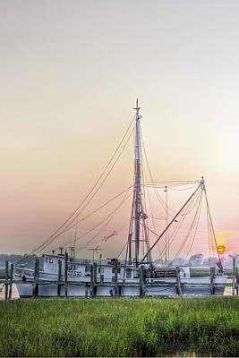 Shrimp Boat Sunset Art Print by Drew Castelhano