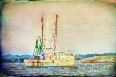 Photograph - Shrimp Boat - The Brande Ray by Kerri Farley