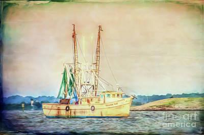 Photograph - Shrimp Boat - The Brande Ray by Kerri Farley