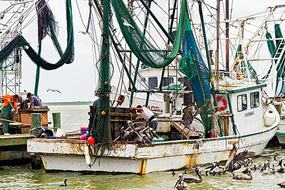 Photograph - Shrimp Boats A-coming by Gary Holmes