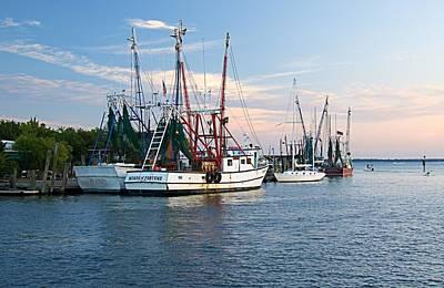 Shem Creek Photograph - Shrimp Boats At Shem Creek by Matt Plyler