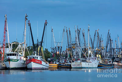 Photograph - Shrimp Boats At Twilight by Brian Jannsen