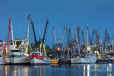 Photograph - Shrimp Boats At Twilight II by Brian Jannsen