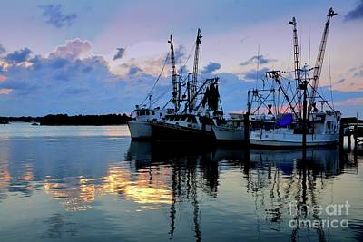 Photograph - Shrimp Boats by Debbie Green