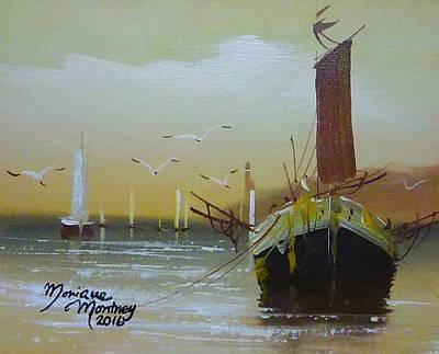 Painting - Shrimp Boats by Monique Montney