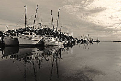 Shrimp Boats On The Altamaha Art Print