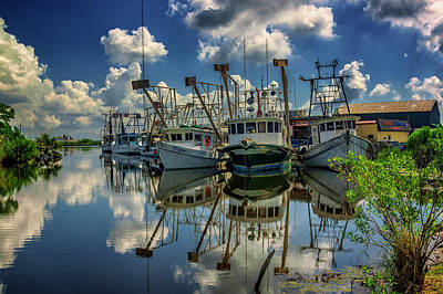 Photograph - Shrimp Boats On The Mississippi In Nola Dsc05401 by Greg Kluempers