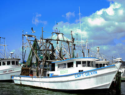 Photograph - Shrimp Boats by Tony Grider