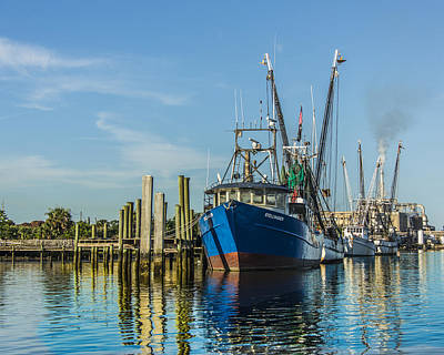 Photograph - Shrimp Boats Waiting by Paula Porterfield-Izzo