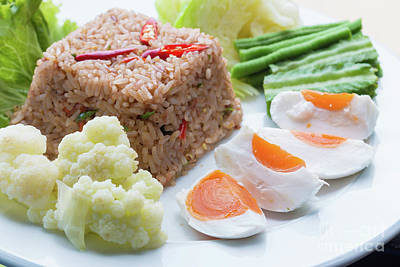 Local Food Photograph - Shrimp Paste Fried Rice by Atiketta Sangasaeng
