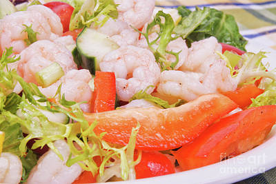Photograph - Shrimp Salad With Assorted Vegetables by Vizual Studio