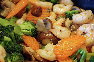 Photograph - Shrimp Stir Fry #2 by Ben Upham III